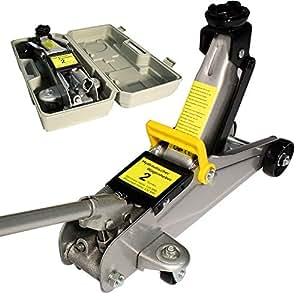 Arebos® Cric Hydraulique Roulant Cric Rouleur 2 To avec coffret