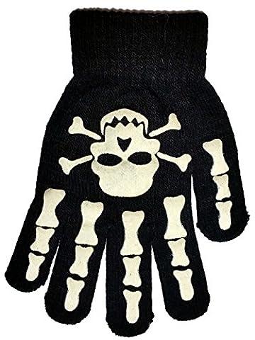 Boys Girls Magic Gloves Skull & Hand Design One Size Acrylic
