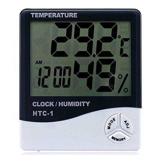 Thermomètre numérique LCD Jooks pour détermination de la température et d'humidité - Pour intérieur et extérieur