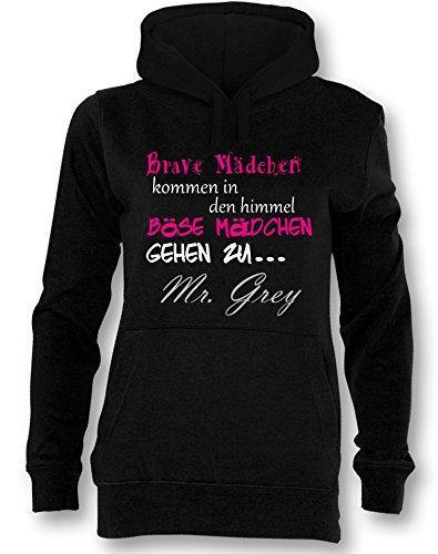Brave Mädchen kommen in den Himmel Böse gehen zu Mr Grey - Damen Hoodie Schwarz / Bunt