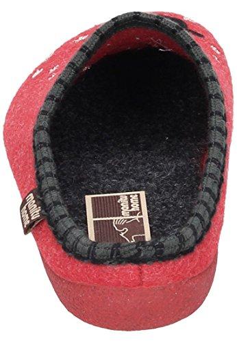 Manitu 320462, Chaussons avec doublure froide femme Rouge