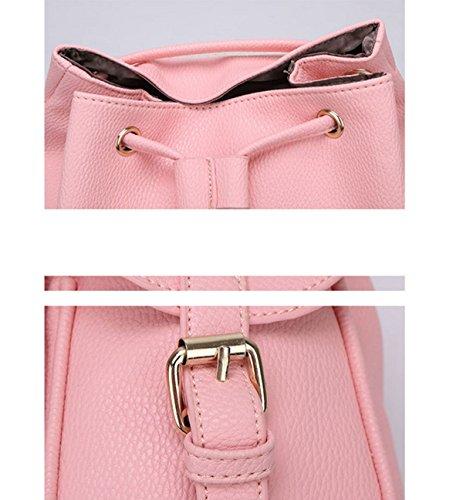 QPALZM Collegio Vento Trend Fashion PU Studenti Ms Spalle Zaino Pink