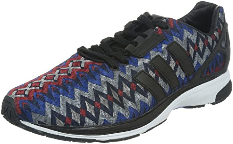 Adidas Herren Sneakers ZX Flux Tech Schwarz-Rot-Blau-Grau M21304