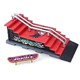 JWBOSS Patineta de dedo Combinación de escena Rampa de escaleras Juguetes Regalos para niños Deportes Desafío Plástico c