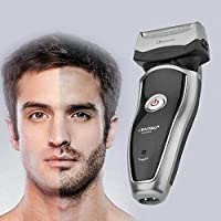 ukYukiko Rechargeable Electric Razor Portable Man Shaver Groomer Double Side Trimmer