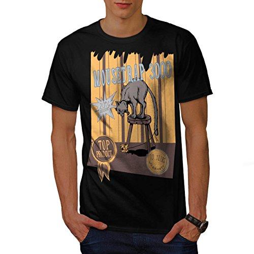 mouse-trap-cat-bait-cheese-lure-men-new-black-m-t-shirt-wellcoda