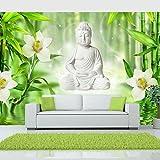 murando Papier peint intissé 350x256 cm Décoration Murale XXL Poster Tableaux Muraux Tapisserie Photo Trompe l'oeil Bouddha Fleurs eau b-A-0049-a-a