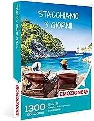 smartbox Emozione3 - Cofanetto Regalo - STACCHIAMO 3 Giorni! - 1300 Divertenti soggiorni in accoglienti B&B ed agriturismi Italiani