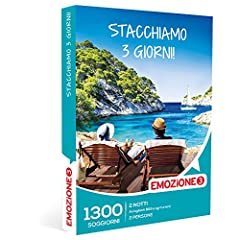 Idea Regalo - Emozione3 - Cofanetto Regalo - STACCHIAMO 3 Giorni! - 1300 Divertenti soggiorni in accoglienti B&B ed agriturismi Italiani