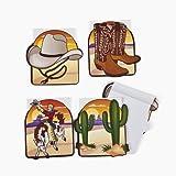 cama24com Cowboy Wilder Westen Notizblock 24 Stück