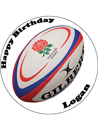 75 England Rugby Ball Essbarer Zuckerguss Birthday Kuchen Topper