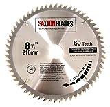 Saxton TCT Kreissägeblatt Holz Sägeblatt 210mm x 30mm x 60Z für Festool Bosch Makita Dewalt passt 216mm Lochsägen