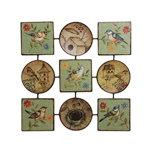 ZHAOSHUNLI Wand Dekoration Anhänger Retro Kreative Home Wohnzimmer Veranda Dekorative Malerei Schmiedeeisen Malerei 68 * 68 cm