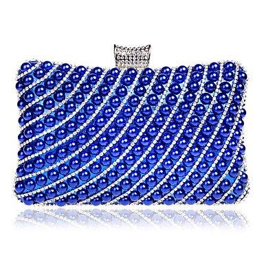 pwne Frauen Abend Beutel Polyester Alle Jahreszeiten Hochzeit Event / Party Formale Minaudiere Strass Perle Details Verschluss Lockred Silber Schwarz Gold Blue