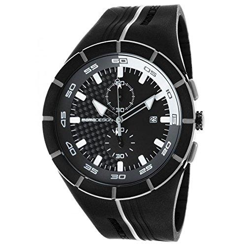 Uhr MOMO DESIGN HERREN md1113bk-41Quarz (Batterie) Stahl Quandrante schwarz Armband Gummiarmband '