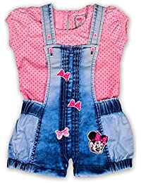 30024258709 Toonyport Girls Infant Wear Romper Frock Dress Multicolour Denim Fabric  Jumpsuit Size-S