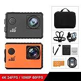 ZYX Sport Action Kamera 2.0-Zoll-Bildschirm Gyro 4K 30M Gehen Wasserdichte Outdoor-Sport-DV Eingebauter Gyro mit GPS-Erweiterung GPS-Modell Nicht Enthalten, Surfen, Tauchen, Radfahren, Etc,Black