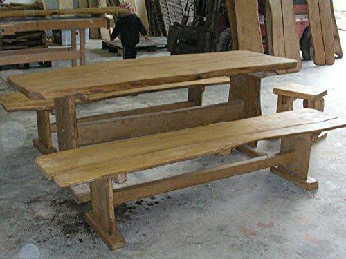 KJR Holzmanufaktur Rustikale Gartenmöbel, Sitzgruppe, Sitzgarnitur, Eiche - Rustikale Sitzgruppen