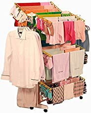 PAffy 3 Layer Steel Cloth Drying Stand (Queen Jumbo) Multi-Color