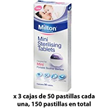 Pastillas Esterilizadoras Mini Milton, 150 unidades - Pastillas para esterilizar y desinfectar la Copa Menstrual Sileu - Ideales para usar con el Esterilizador Plegable Sileu