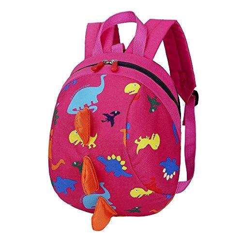 Kinderrucksack Animal Schule Tasche Rucksack, Ulanda Mini Rucksack, Motiv Dinosaurier Rucksack for Kinder Baby Jungen Mädchen Kleinkind 2-6 Alter (Rose) - La Rose 2 Tasche