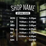 opening hours sign opening times sign for shop window sticker v3 open closed sign business hours personalised business window stickers personalised bespoke signage decals