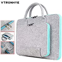 MIMIOOORE Hombres Mujeres 11 13 14 15,6 17,3 Pulgadas Super Luz de Lana Fieltro del Ordenador portátil del Bolso for MacBook Lenovo DELL HP ASUS Computer Bag (Color : Grey and Blue, Size : 11-Inch)