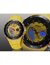 Relojes Hermosos, Negro banda de silicona esfera de un reloj redondo reloj de pulsera de reloj del deporte del salto movimiento de la moda de Japón de los hombres ( Color : Blanco )