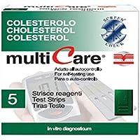 Gima MULTICARE® - Tiras de colesterol (25 unidades) + 1 chip - 23958