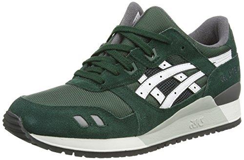 ASICS - Gel-Lyte Iii, Sneakers Basse da unisex - adulto, verde (dark green/white 8001), 41 EU