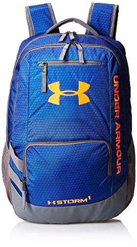 Under Armour Storm Hustle II Backpack, Royal (402)/Blaze Orange, One Size