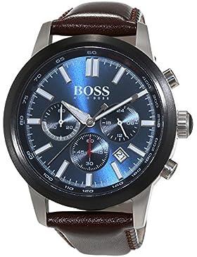 Hugo Boss Herren-Armbanduhr Chronograph Quarz Leder 1513187