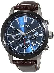 Hugo Boss - 1513187 - Montre Homme - Quartz - Chronographe - Chronomètre - Aiguilles - Luminescent - Bracelet cuir Marron