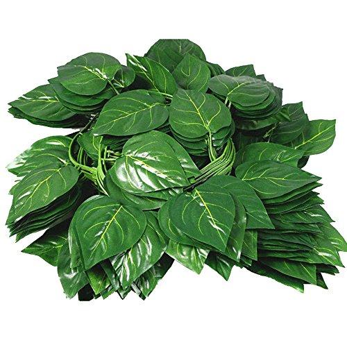 Samidy 12PCS Künstliche Fake Blättern zum Aufhängen Vines Blätter Girlande Home Garten Poison Ivy Kostüm (Poison Ivy Blätter Für Kostüm)
