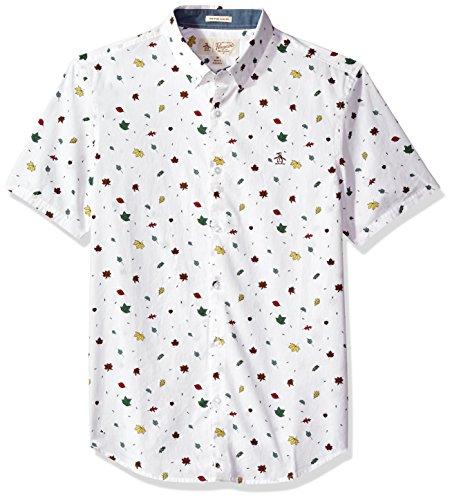 Original Penguin Men's Falling Leaves Button Down Shirt