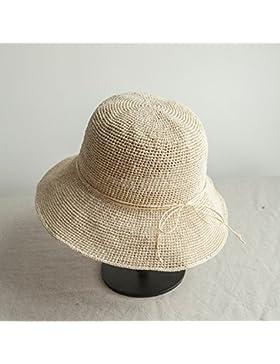 LVLIDAN Sombrero para el sol del verano Dama SolAnti-sunshinestrawhat beige plegable
