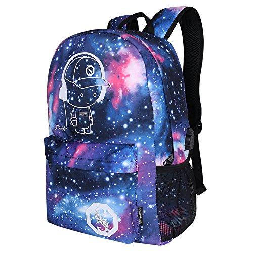 Galaxy Anime luminoso Zaino - Zaino per scuola con porta di ricarica USB - Daypack itinerante Borsa per la scuola della spalla Borsa per laptop per ragazzi e ragazze - Dracarys
