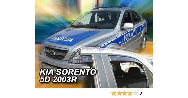 Zentimex Z906656 Windabweiser Regenabweiser Acrylglas Dunkelgrau Für Vorne Und Hinten Auto