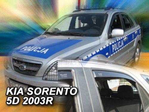 HEKO Z906656 Windabweiser Regenabweiser für SORENTO 02- für VORNE UND HINTEN
