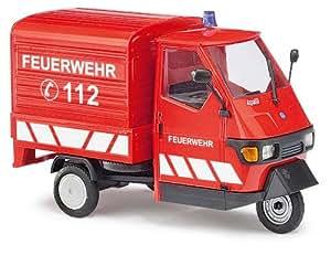 Busch 60055 modellino piaggio ape 50 dei pompieri scala for Modellino ape piaggio