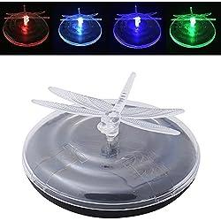 Lámparas Solares de Piscina,AZX,Lámparas Flotantes Jardín de Noche, Iluminación para Fiesta, Piscina, Bañera (Libélula)