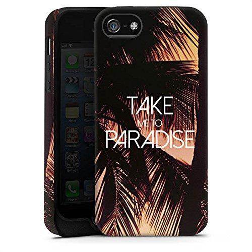 Apple iPhone X Silikon Hülle Case Schutzhülle Palmen Urlaub Sommer Tough Case matt