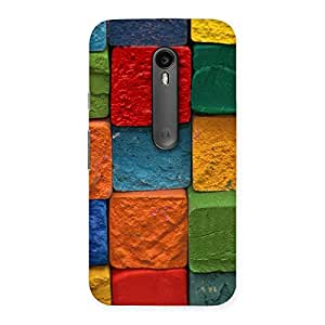 Enticing Color Cubes Multicolor Back Case Cover for Moto G Turbo