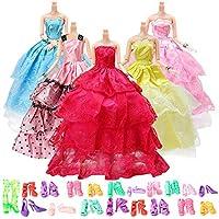 Vestidos Barbies 25 Piezas Ropa y Accesorios para 11Inch Muñeca Barbie,5 Piezas Vestido de