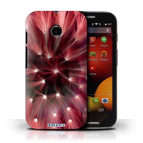 Kobalt® Imprimé Etui / Coque pour Motorola Moto E (2014) / Vert conception / Série Couleur/Lumière Fleur Rouge