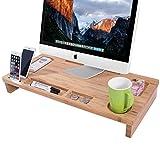 Homemaxs Bambus Monitorständer 65 * 31 * 9cm Bildschirmständer für