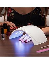 Oramics 24W UV LED professioneller Nageltrockner geeignet für für Lack, Gel und Schellack – 4 mal schneller als fluoreszierende Lampen – Nagellack Trockner, LED-UV-Nagellampe
