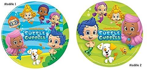 Disque Azyme Bubble Guppies - Décoration Gâteau Enfant 20 cm