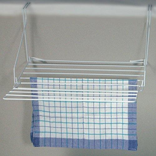 Wäschetrockner mit 2 Halterungen zum Hängen zusammenklappbar 11 Leinen Falt Wäscheleine Wäscheständer Wäschespinne Wäschetrockmer Balkon Bad Camping Handtuchhalter Platzsparend und leicht zu verstauen -