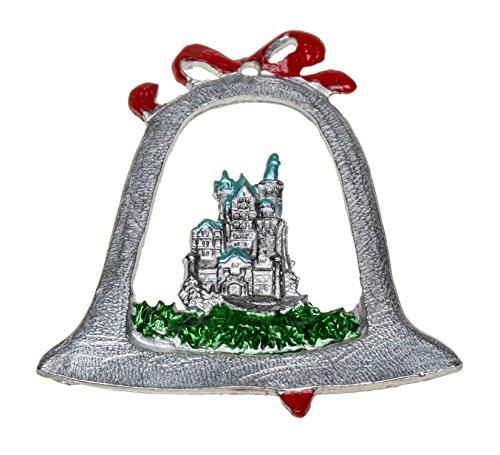 Schnabel-Zinn Neuschwanstein Weihnachtsanhänger Glocke mit Relief gemalt